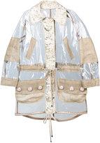 Dolce & Gabbana decorative raincoat - women - Silk/Cotton/Jute/PVC - 38