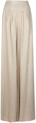 Christian Siriano High-Waisted Palazzo Trousers