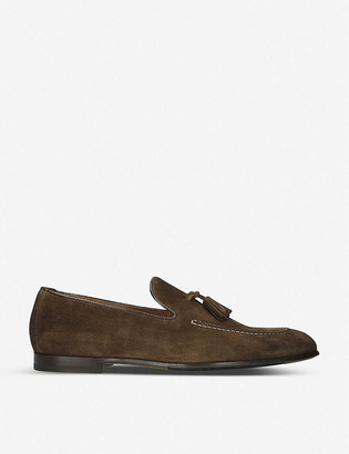 Doucal's Max flexi suede loafer