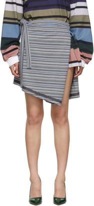 Y/Project Grey Wrap Miniskirt