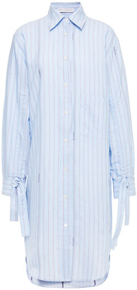 J.W.Anderson Gathered Printed Cotton-poplin Shirt Dress