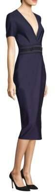 Yigal Azrouel Short Sleeve V-Neck Dress