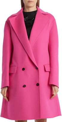 Valentino Double Breasted Double Face Cashmere Coat