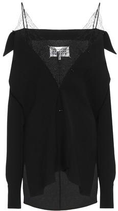 Maison Margiela Lace-trimmed jacket