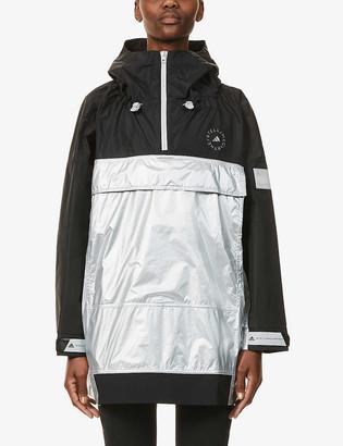 adidas by Stella McCartney Hooded recycled-polyamide jacket