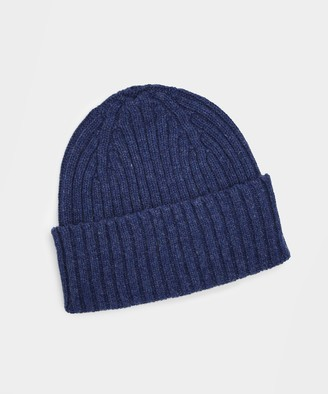 Drakes Classic Lambswool Hat in Blue