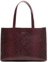 Banana Republic Portfolio Structured Snake-Effect Leather Tote