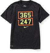 Nike Big Boys 8-20 Dri-FIT Legend 365 247 Short-Sleeve Tee