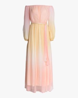 Divine Heritage Off-Shoulder Maxi Dress