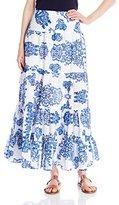 Karen Kane Women's Tiered Maxi Skirt