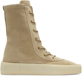 Yeezy Taupe Crepe Boots