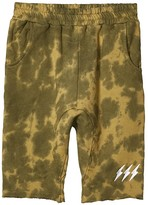 Tiny Whales Natural Born Chiller Shorts (Toddler/Little Kids/Big Kids) (Army Tie-Dye) Boy's Shorts