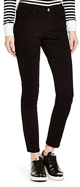 Frame Le Color Skinny Jeans in Film Noir