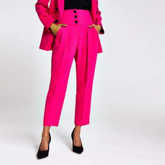 River Island Womens Petite Pink corset tux trousers
