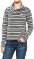 Ellen Tracy Shawl Collar Striped Sweater Jacket (For Women)