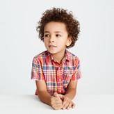 J.Crew Kids' short-sleeve shirt in madras plaid