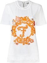 Fendi embroidered T-shirt - women - Cotton/Polyamide/Polyester/Spandex/Elastane - 38