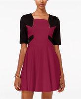 XOXO Juniors' Colorblocked Fit & Flare Dress