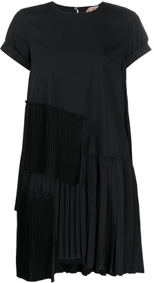 No.21 Pleated-Detail Short Dress