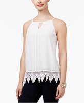 Thalia Sodi Crochet-Trim Tank Top, Created for Macy's