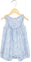 Jacadi Girls' Sleeveless Floral All-In-One