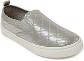 Honey Bunny Girls' Sneakers SILVER - Silver Quilted Ada Slip-On Sneaker - Girls