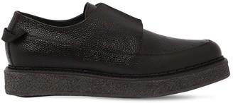 Faqtory Pebblegrain Leather Laceless Derby Shoes