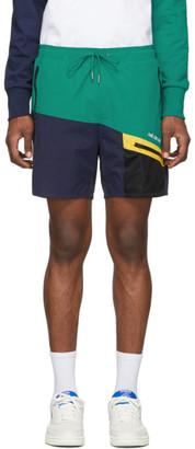 Aimé Leon Dore Navy and Green Hiking Shorts