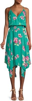 Parker Nolen Floral Flowy Sleeveless Dress