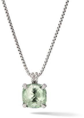 David Yurman Chatelaine Pendant Necklace with Prasiolite & Diamonds