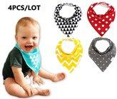 Aimeio Baby Bandana Drool Bibs 4Pack Cotton Bibs with Adjustable Snaps,Baby Gift Set