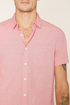 Forever 21 Two-Tone Pocket Shirt