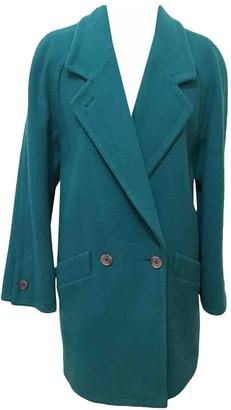 Aquascutum London Turquoise Wool Coat for Women