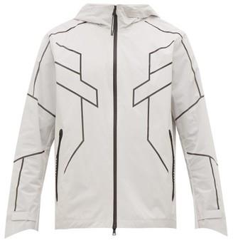 BLACKBARRETT by NEIL BARRETT Geometric-print Reflective Zip-through Jacket - Mens - Silver