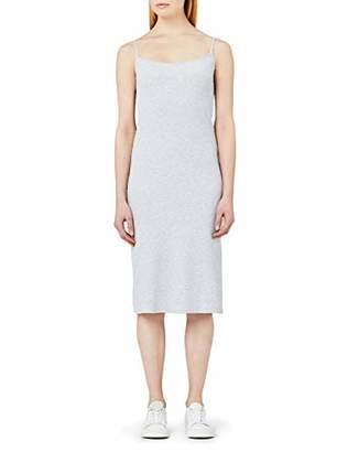 MERAKI Women's Slim Fit Rib Summer Midi Dress,(Size: X-Large)
