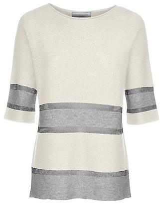 Fabiana Filippi Striped Lurex Wool-Blend Knit Top