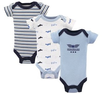 Luvable Friends Preemie Baby Boy Bodysuits, 3-pack