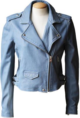 IRO Blue Leather Jackets