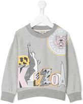 Kenzo logo print sweatshirt - kids - Cotton - 4 yrs