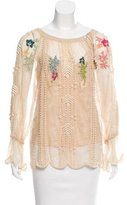 Matthew Williamson Embroidered Lace Top