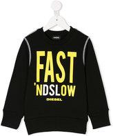 Diesel logo print sweatshirt - kids - Cotton - 2 yrs