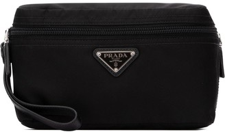 Prada Logo Plaque Toiletry Bag