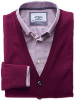 Charles Tyrwhitt Berry Merino Wool Cardigan Size Medium