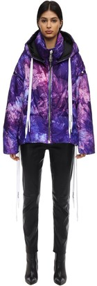 KHRISJOY Hooded Tie Dye Down Jacket