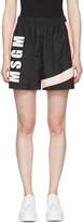 MSGM Black Colorblocked Logo Shorts