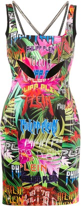 Philipp Plein Jungle Rock studded mini dress