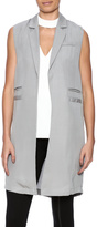 C. Luce Long Grey Vest