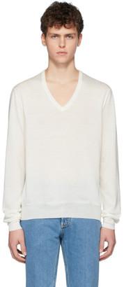 Maison Margiela Off-White Spliced Sweater