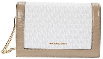 MICHAEL Michael Kors Jet Set Large Full Flap Chain Crossbody (Soft Pink) Handbags