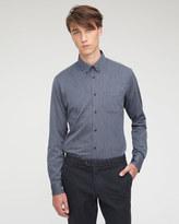 Herringbone Button Down Slim Shirt